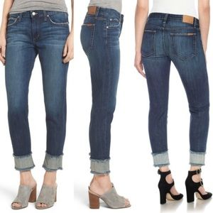 Joe's Jeans Smith Crop Boyfriend Mid Rise Jeans 26